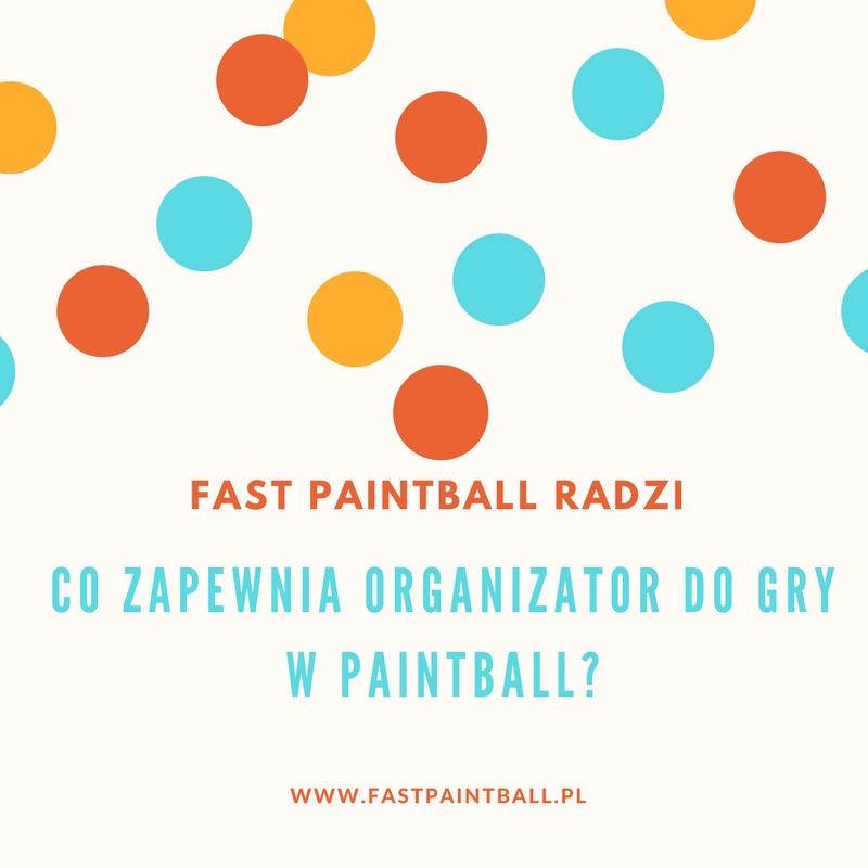 Co zapewnia organizator do gry w paintball?
